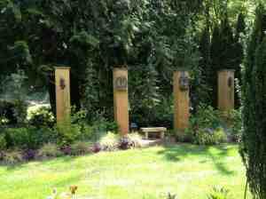 A bit of the garden art at VanCor Gardens