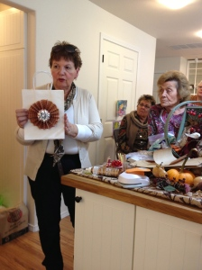 Mar Elliff demonstrating at Ginny Phillips home