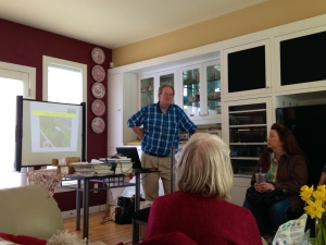 John Valentine speaking to the Dogwood Garden Club